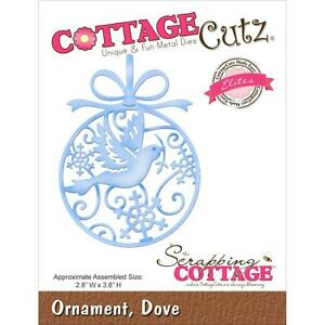 "CottageCutz Elites Die Assembled Size 2.8""X3.8"" ~ Dove Ornament, CCE184  ~ NIP"