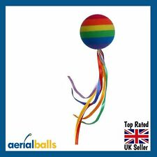Rainbow Streamer with Peace Ribbons Car Aerial Ball Antenna Topper
