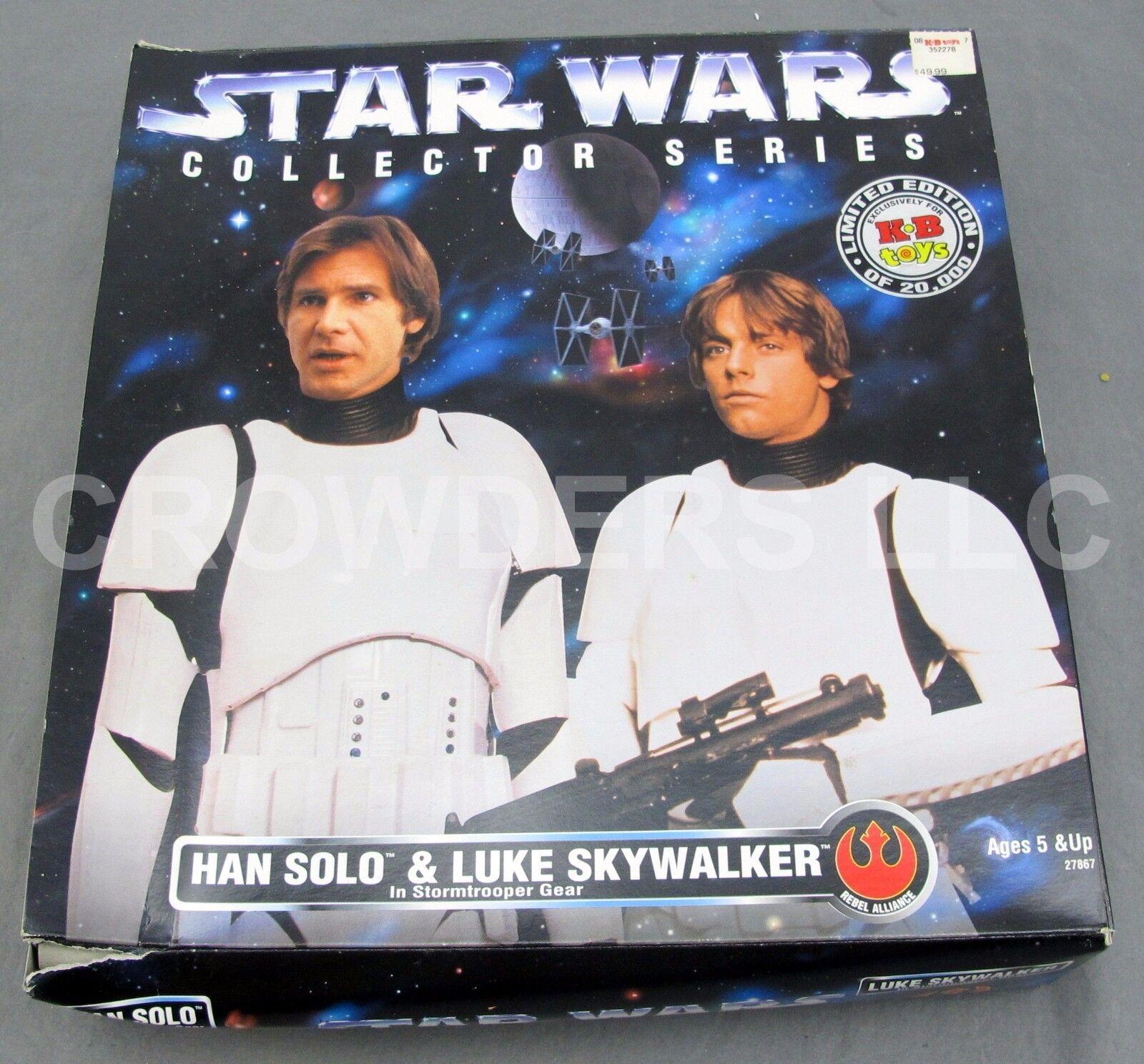 Star Wars Collector Series Han Solo & Luke Skywalker Stormtrooper Gear KB Toys