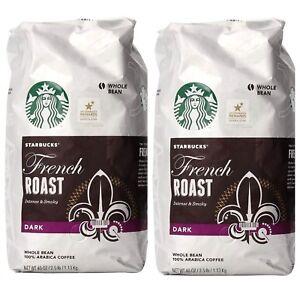 2-Packs-Starbucks-French-Roast-Dark-Whole-Bean-100-Arabica-Coffee-40-OZ-Pack