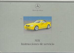 MERCEDES-SLK-Klasse-170-Instrucciones-de-servicio-1999-Betriebsanleitung-BA