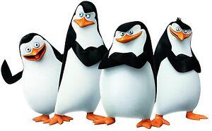 Madagascar Penguins T shirt Iron on Transfer 8x10- 5x6 -3x3 light fabric