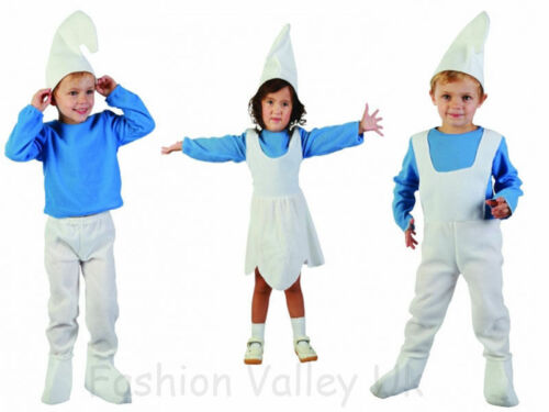 KIDS BOYS GIRLS TODDLER ELF SMURF GNOME OUTFIT FANCY DRESS COSTUME 2-4 YEARS AGE