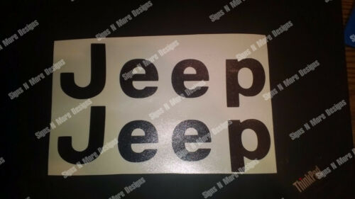 YJ Replacment letter decal for a JEEP CJ WRANGLER sticker 1976-1995   2 decals