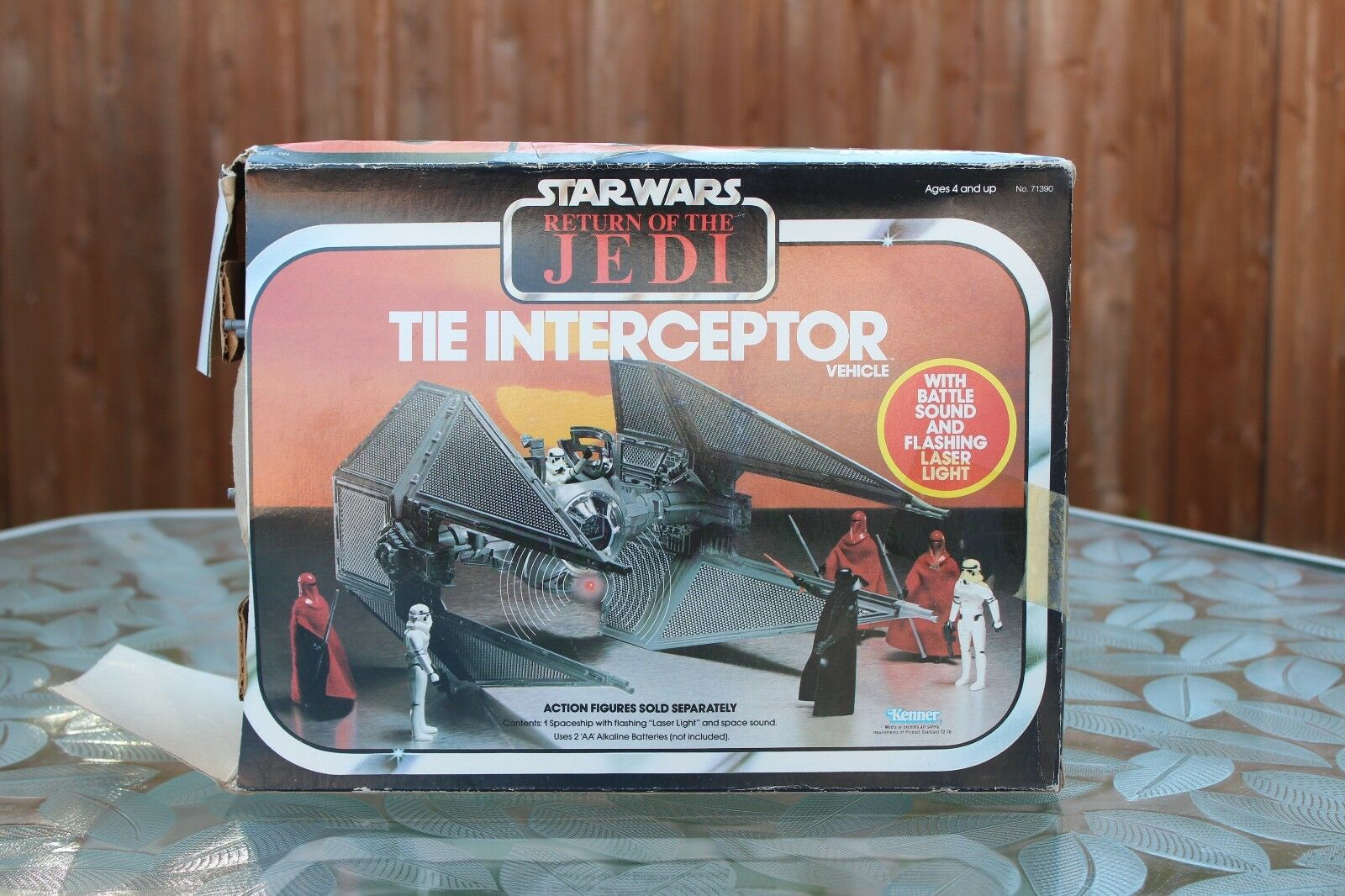 Star Wars Return of the Jedi Interceptor battle Sound & Flashing Laser Light NIB