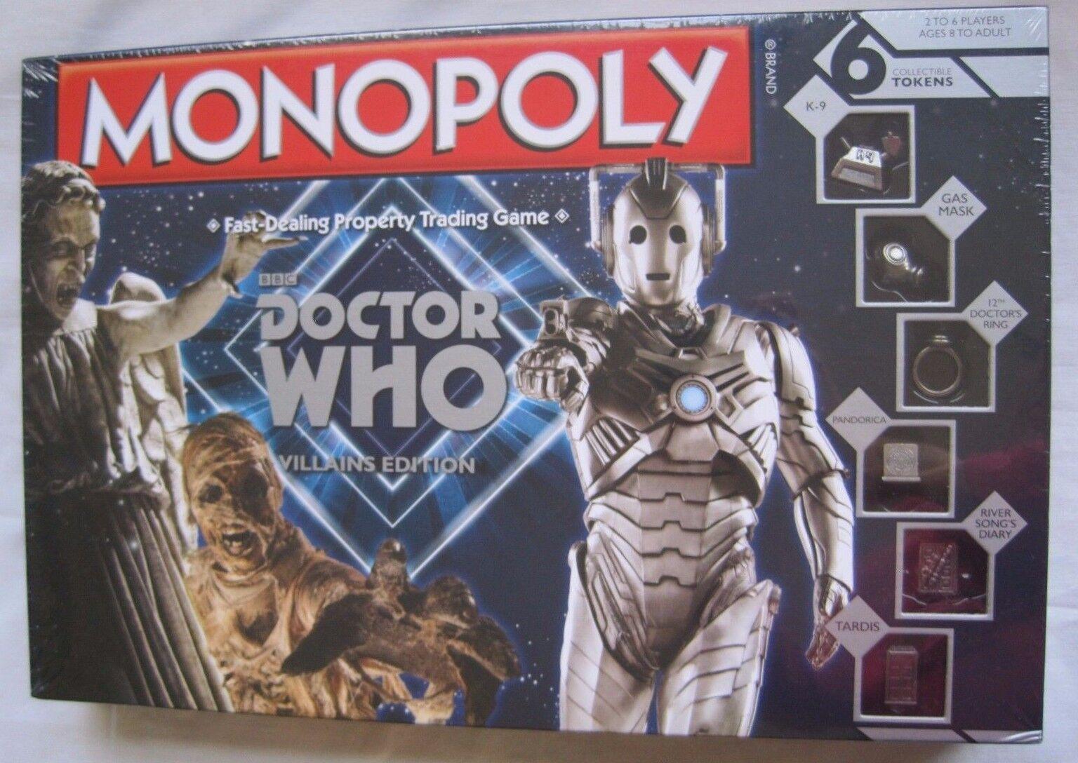 Nuovo Monopoly Bbc Doctor Who Cattivi Edizione Gioco da Tavolo  6 da Collezione  ordina ora con grande sconto e consegna gratuita