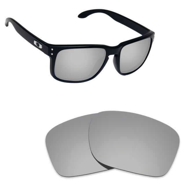 cb259ae049 Hawkry Polarized Replacement Lenses for-Oakley Holbrook Silver Titanium  Mirror
