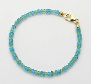 Apatit-Armband-facettiert-mit-Peridot-in-18-5-cm-Laenge-von-Gemini-Gemstones