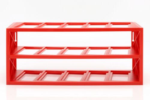 Plastique Vitrine pour Jusqu/'à 15 Ferrari F1 Modèles dans Maßstab 1:43 Rouge