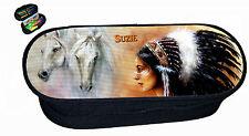 trousse à crayons indien cheval avec prénom réf 242