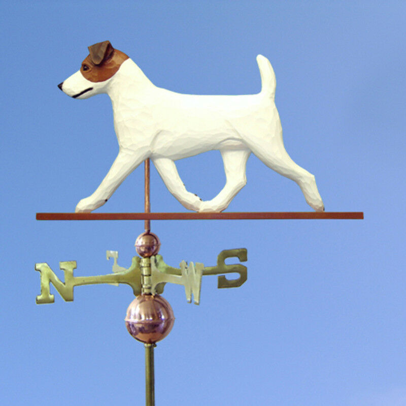 Jack Russell Terrier Hand Carved Hand Painted Basswood Dog Weathervane braun ...