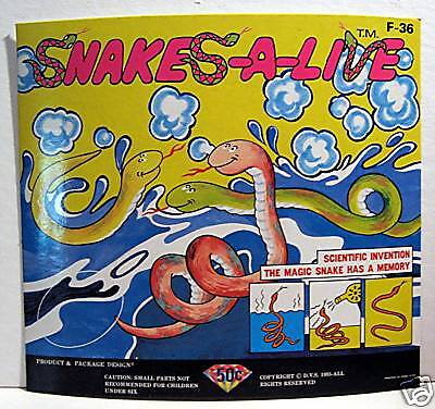 Magic Snakes Alive Gumball Vending Machine Card