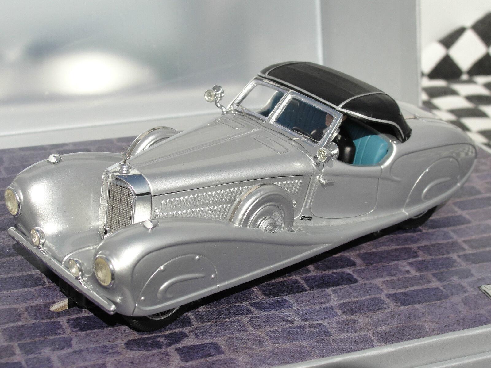 Top slot slot slot mercedes benz 540K sport cabriolet argent 7110 1:32 slot bnib 94423c
