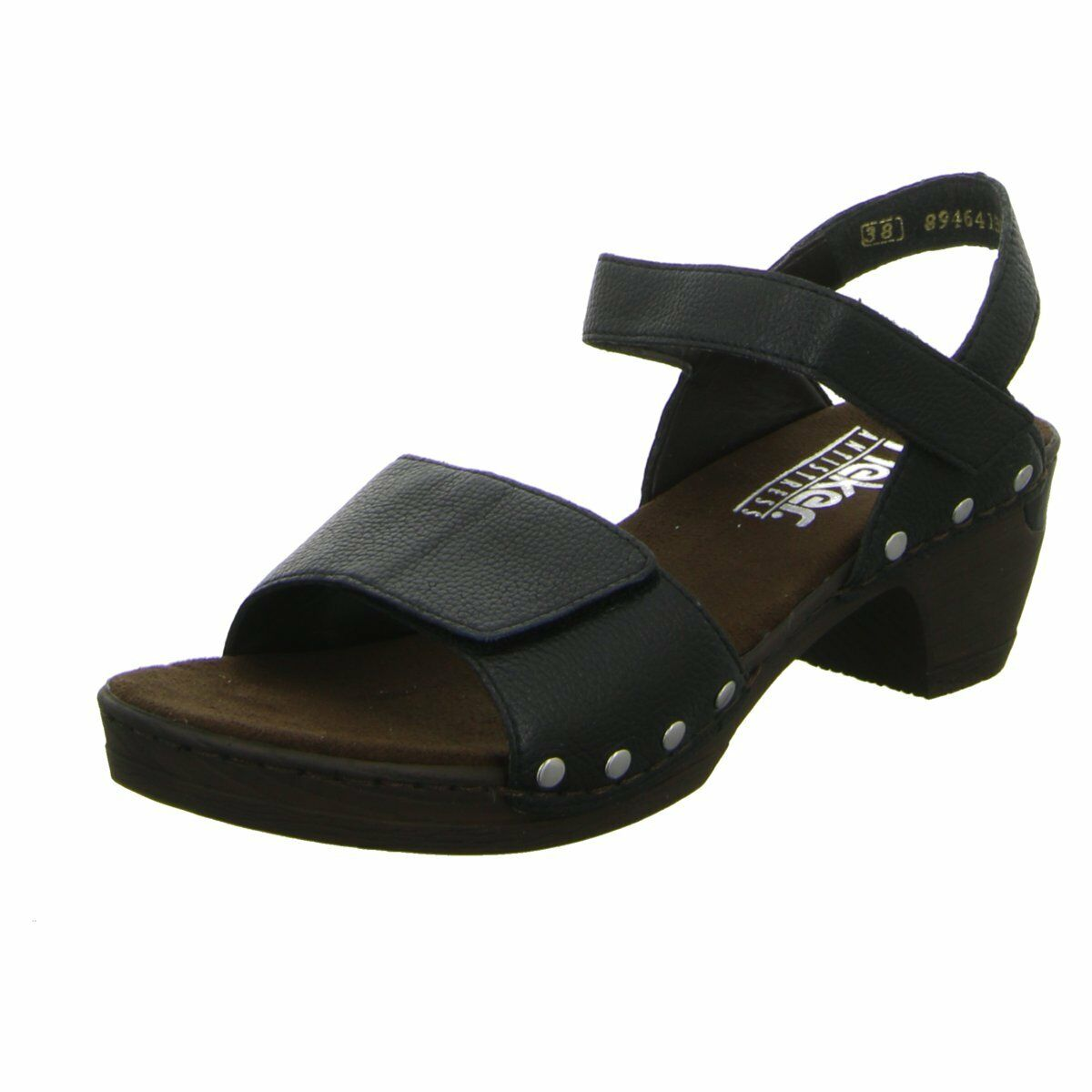 NEU Rieker Damen Sandaletten Sandalette eleganter Boden 66863-01 schwarz 133341