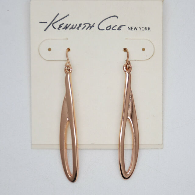 fd84a3bb4671a kenneth cole jewelry rose gold tone hoop dangle dangle simple texture  earrings