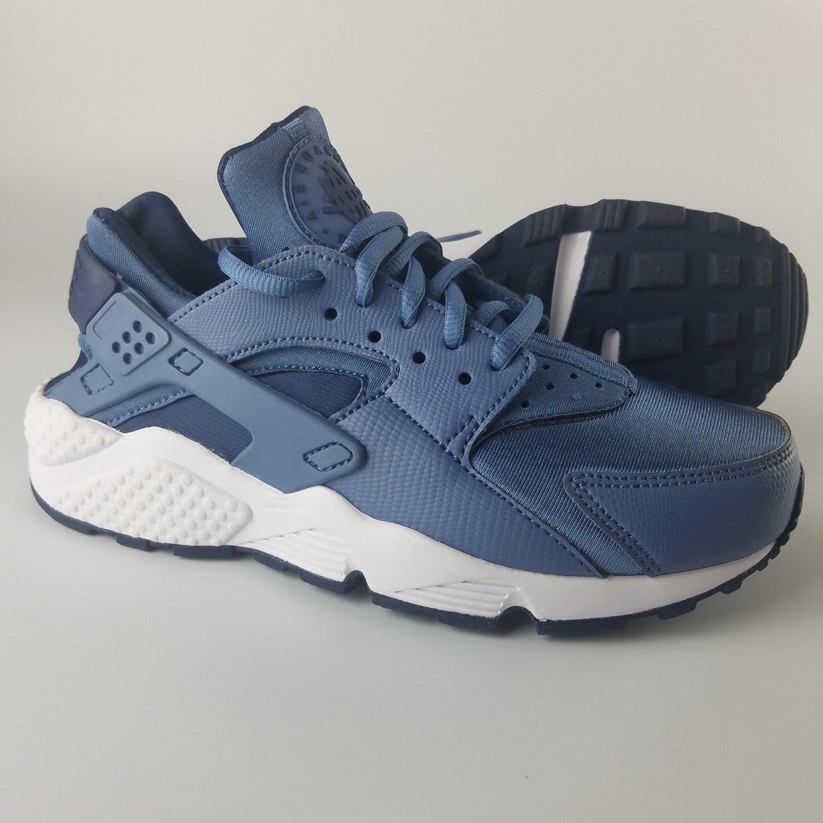 Nike Air Huarache Run Shoes Women's Size 6.5 White Ocean Fog Midnight Navy White 6.5 bb6ddf