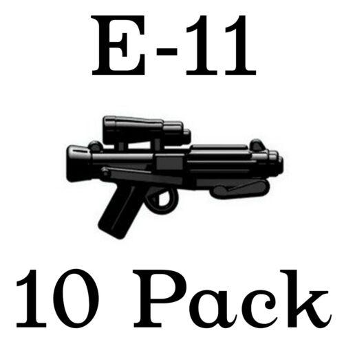 LEGO Star Wars Guns E-11 Blaster Stormtrooper Rifle Rebel Storm Weapon 10 Pk
