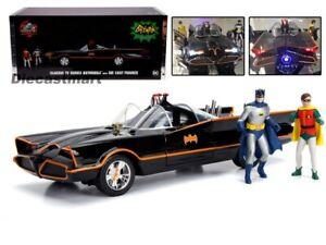 Jada-1-18-Classic-Tv-Series-1966-Batimovil-con-luces-Batman-y-Robin-98625