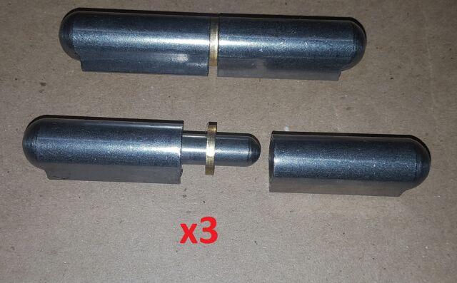 """3 pc 2.37/"""" Stainless Steel Weld On//Bullet Hinge Door//Boat//Sheet Metal//Machine//DY"""