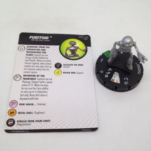 Heroclix Teenage Mutant Ninja Turtles 2 set Fugitoid #013 Uncommon figure w/card