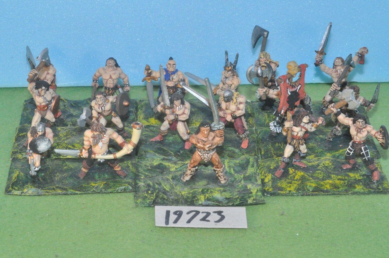 Item fantasy   warhammer - chaos barbarian skirmishers 17 metal - (19723)