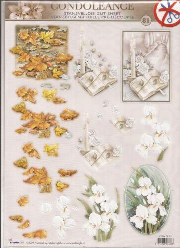 Condoleance A4 Die Cut 3D Decoupage Sheet 056-81