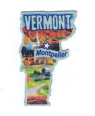 Travel Souvenir State Capitol 054-I Montpelier Vermont Printed Iron On Patch
