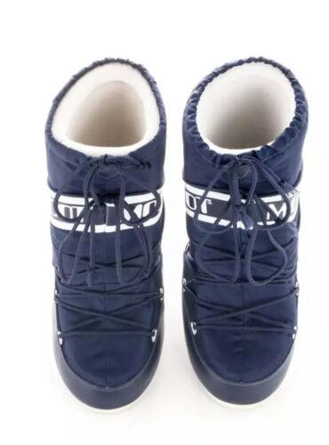 Moon Boots Size U.K 12.5//1.5 Kids Eu 31//34 Navy Blue
