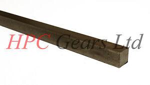 Rod 1 Metre 10mm x 10mm 2 Metre /& 3 Metres. Key Steel Square bar BS4235