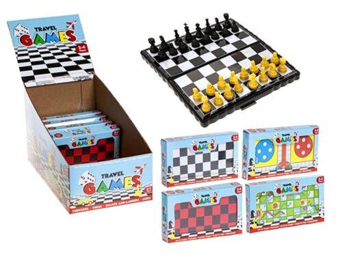 GIOCHI da tavolo da Viaggio Bambini Famiglia divertente Stocking Filler Giocattolo Festa Borsa Regalo di Natale