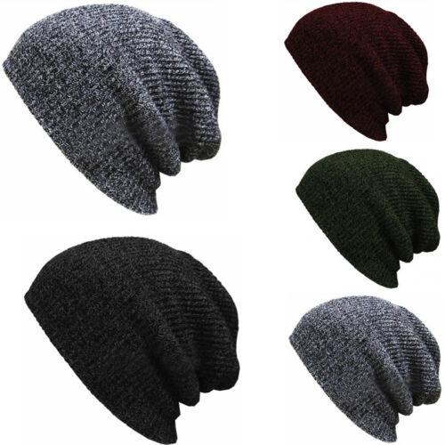 Men Women Unisex Knit Baggy Beanie Winter Hat Ski Slouchy Chic Knitted Cap Skull