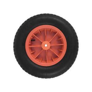 orange pneumatic wheelbarrow wheel 14 with 1 2 bore 110mm length ebay. Black Bedroom Furniture Sets. Home Design Ideas