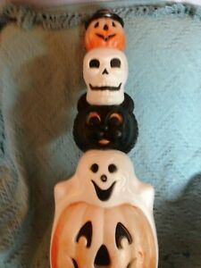 VINTAGE-1996-EMPIRE-32-034-HALLOWEEN-TOTEM-POLE-BLOW-MOLD-W-LIGHT-CORD
