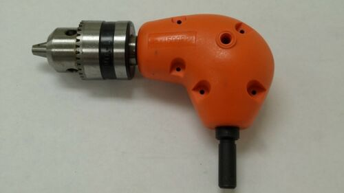 Right Angle Drill Attachment Chuck Adapter Electric Power Cordless 3//8 90 Degree