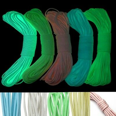 3/6/15/30Meter 550 PARACORD Nylon Fallschirmschnur 550LB 9 Strang Fluoreszierend