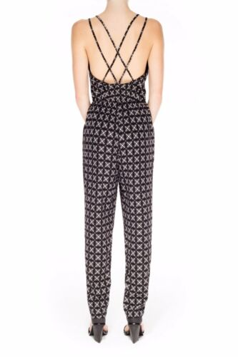 The Fifth Label All You/'re Waiting For Black White Geo Print Strap Jumpsuit