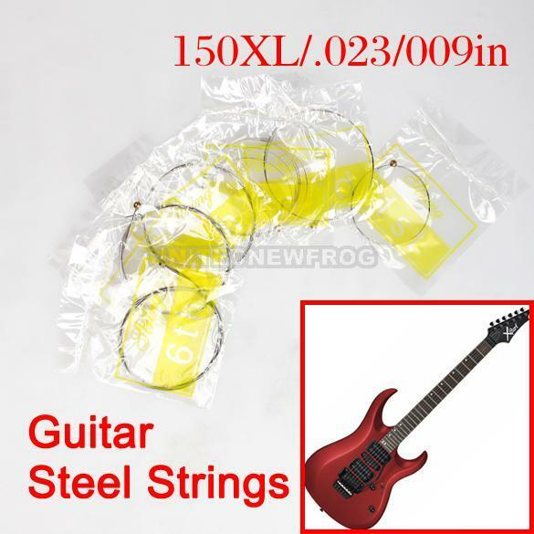 Professional Acoustic Guitar Set of Guitar 6 Steel Strings 150XL/.023/009in E