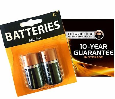 3 Size C Lr14 Mn1400 Duralock Duracell Card 1 5v Alkaline Battery