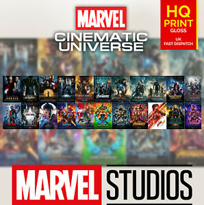 Details about 22 Marvel Cinematic Universe Movie Art Film Poster Print  2008-2019 | A4 A3 A2 |