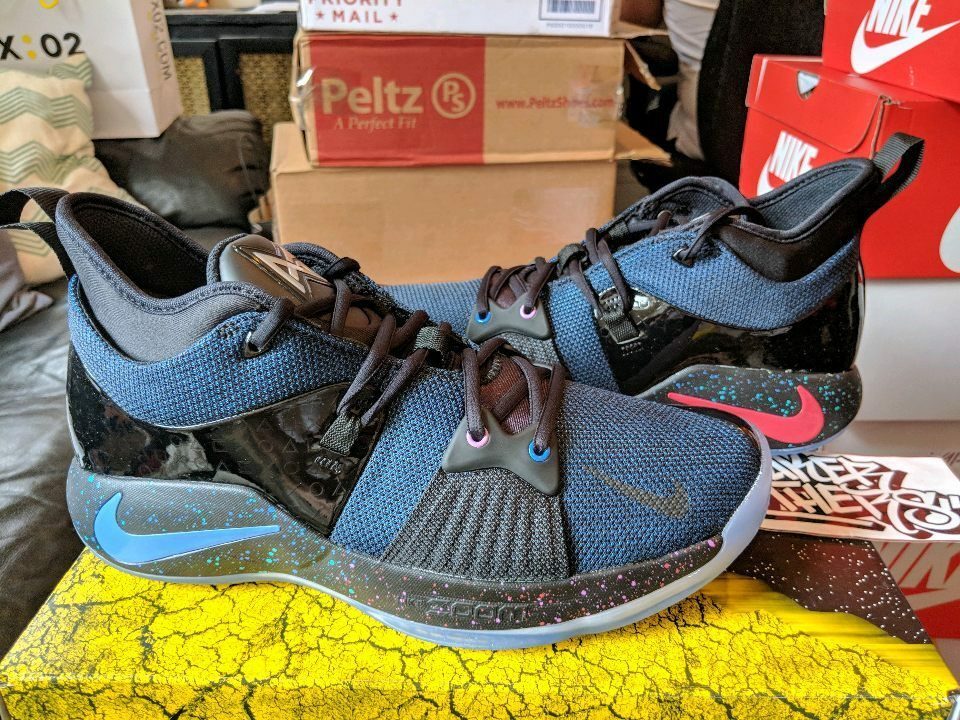 Nike Nike Nike PG 2 Playstation PS EP Black Racer Blue AT7816-002 Limited Edition George 99539b