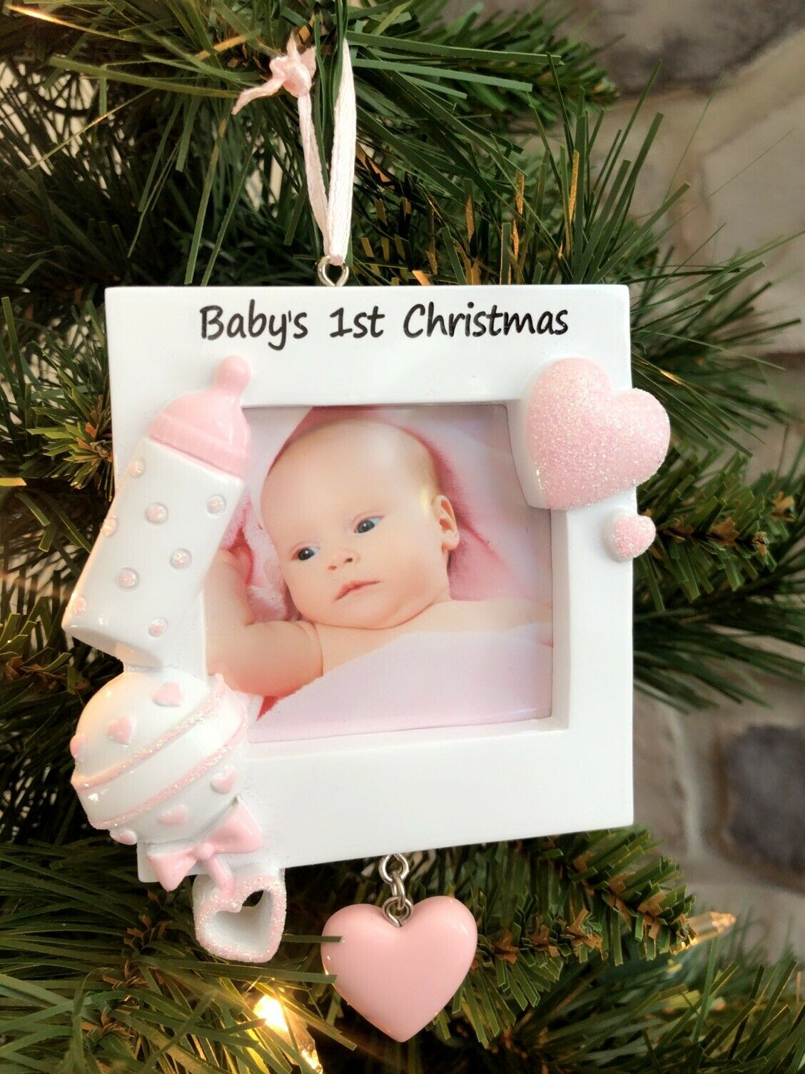 Personalized Baby Girl S Boy S First Christmas Picture Frame Ornament Newborn For Sale Online