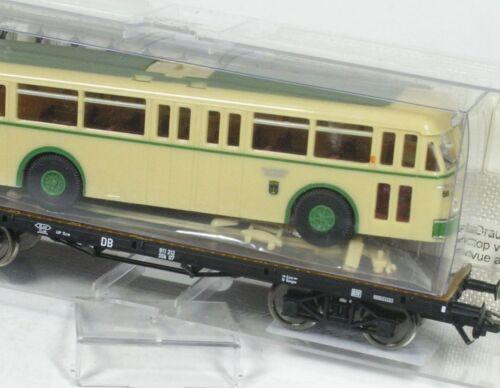H0 Flachwagen DB m Trolleybus Stadtwerke Solingen Fleischmann 85 5286 K NEU OVP