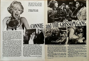 Connie Stevens Connie and The Grissom Gang Vintage Film Star Article 1971