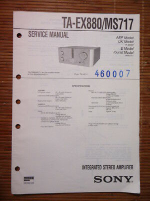 Anleitungen & Schaltbilder Kraftvoll Service-manual Sony Ta-ex880/ms717 Amplifier Original Professionelles Design