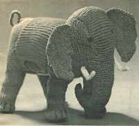 Ella the Elephant toy  knitting pattern.
