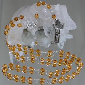 Silber, 800er- 925er Ausdauernd Rosenkranz 835er Silber Mit Jesuskreuz Und Orangenen Glasperlen !!! Volkskunst