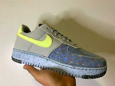 Nike Air Force 1 Crater Pure Platinum/Barely Volt Women Size 10 | eBay