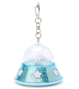 Japón Sanrio Cinnamoroll Azul Ovni Llavero Linterna Luz Led Clip Para Bolso Nuevo