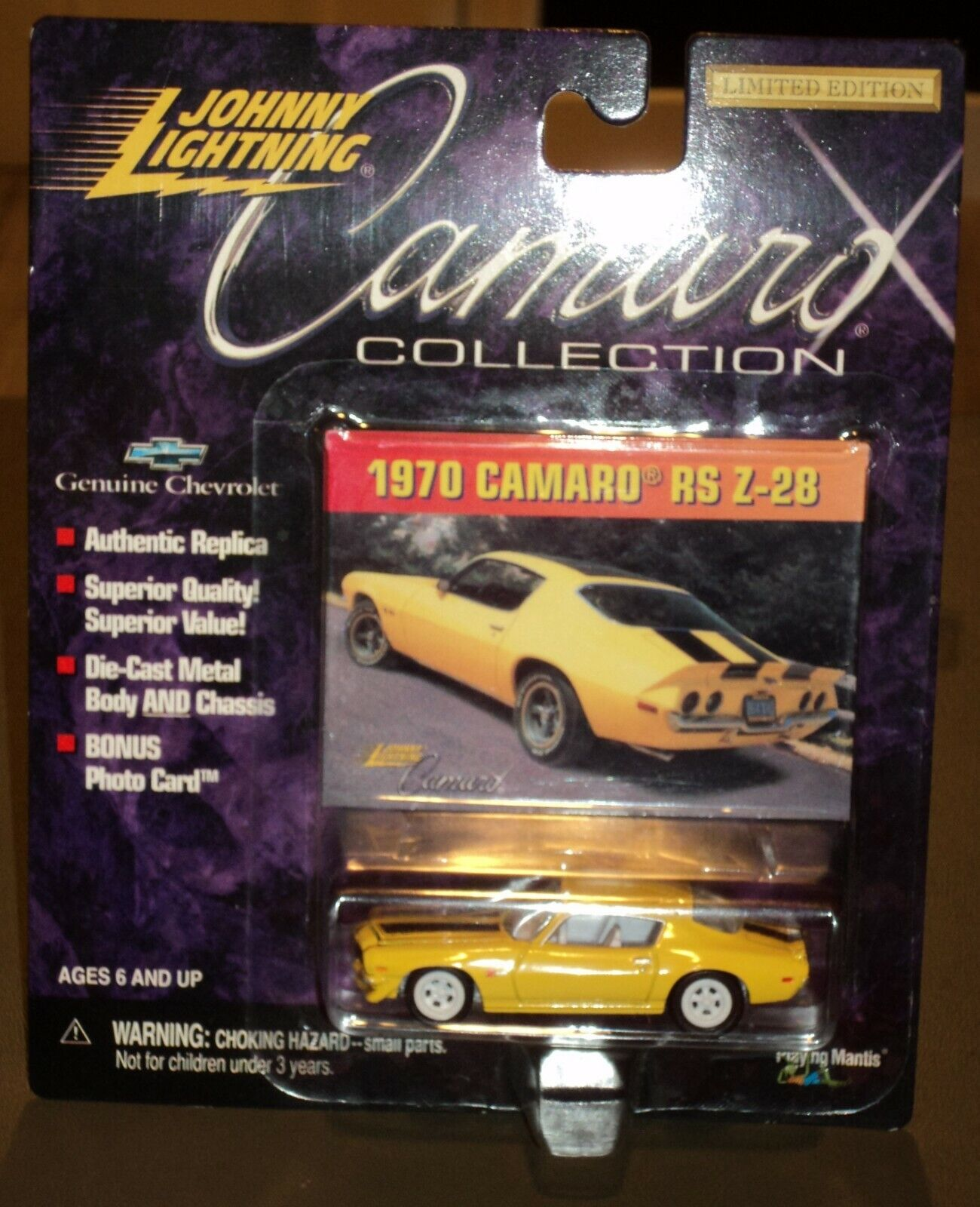 Nuevo Johnny  bianca Lightning  1970 Chevy Camaro RS Z-28 Chase 1999 Colección