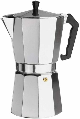 12Cups 600ML Silver Aluminum Moka Pot Octagonal Espresso Coffee Cup Grinder